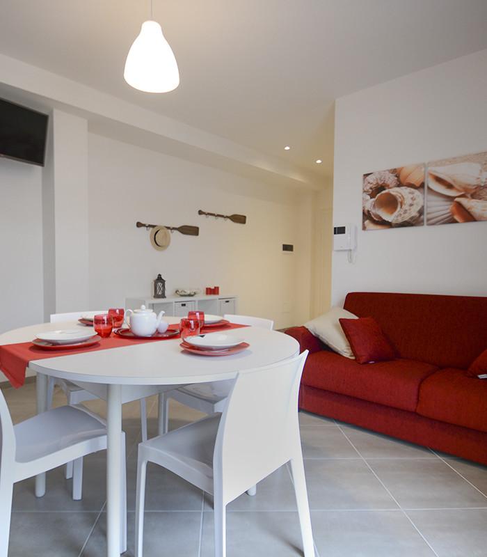 soggiorno appartamento grecale - appartamenti Hypogeum otranto